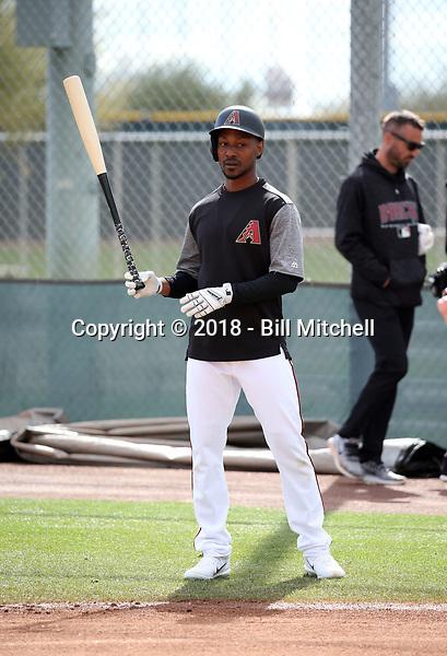Jarrod Dyson - Arizona Diamondbacks 2018 spring training (Bill Mitchell)
