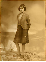 BNPS.co.uk (01202 558833)<br /> Pic: MarcusAdams/ChiswickAuctions/BNPS<br /> <br /> 'Balmoral Belle' A previously unseen image of the future Queen in a kilt in 1941<br /> <br /> Charming childhood photos of Princess Elizabeth and Princess Margaret have come to light, including a previously unseen image of the future Queen in a kilt.<br /> <br /> The portraits, taken by acclaimed British society photographer Marcus Adams, capture the future Queen from being a baby to her adolescence.<br /> <br /> The Queen Mother would often take her daughters to his central London studio where he would set up toys and props to keep them entertained