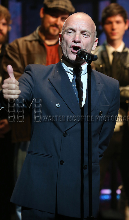 Sting during the Broadway Opening Night Performance Curtain Call for 'The Last Ship' at the Neil Simon Theatre on October 26, 2014 in New York City.
