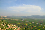 Israel, Lower Galilee, a view of Beit Netofa valley from Ein Netofa