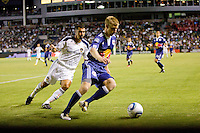 New York Red Bulls defender Tim Ream is chased down by LA Galaxy forward Jovan Kirosvski. The New York Red Bulls beat the LA Galaxy 2-0 at Home Depot Center stadium in Carson, California on Friday September 24, 2010.