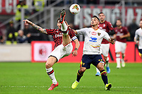 Alessio Romagnoli-Filippo Falco<br /> Milano 20/10/2019 Stadio Giuseppe Meazza <br /> Football Serie A 2019/2020 <br /> AC Milan - Lecce <br /> Photo Image Sport / Insidefoto