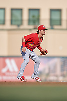 Palm Beach Cardinals shortstop Kramer Robertson (3) during a game against the Jupiter Hammerheads on August 4, 2018 at Roger Dean Chevrolet Stadium in Jupiter, Florida.  Palm Beach defeated Jupiter 7-6.  (Mike Janes/Four Seam Images)