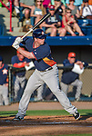 10 March 2014: Houston Astros infielder Matt Dominguez in action during a Spring Training game against the Washington Nationals at Space Coast Stadium in Viera, Florida. The Astros defeated the Nationals 7-4 in Grapefruit League play. Mandatory Credit: Ed Wolfstein Photo *** RAW (NEF) Image File Available ***