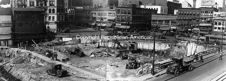Union City Fire where buildings were completely destroyed, January 1928.