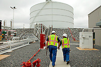 On the job at Piedmont Natural Gas' Piedmont Liquefield Natural Gas (LNG) facility in Huntersville, NC. Piedmont Natural Gas operates three LNG facilities. Liquefield natural gas is natural gas that has been converted to liquid form for storage or transportation purposes.