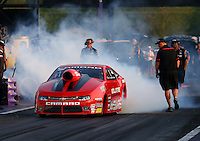 Apr 25, 2014; Baytown, TX, USA; NHRA pro stock driver Erica Enders-Stevens during qualifying for the Spring Nationals at Royal Purple Raceway. Mandatory Credit: Mark J. Rebilas-USA TODAY Sports