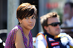 Motorsports / Formula 1: World Championship 2009, GP of Australia,   singer Raquel del Rosario Macias, girlfriend of 07 Fernando Alonso  (ESP, ING Renault F1 Team)