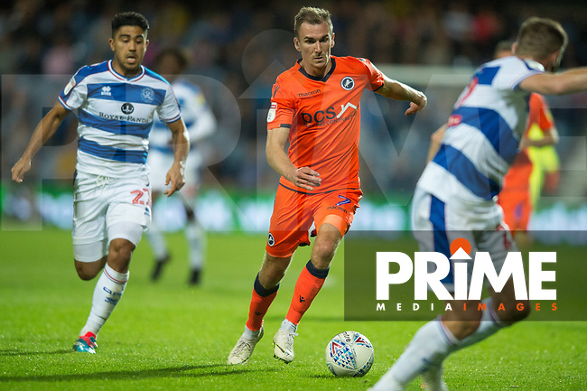 Millwall's Jed Wallace during the Sky Bet Championship match between Queens Park Rangers and Millwall at Loftus Road Stadium, London, England on 19 September 2018. Photo by Andrew Aleksiejczuk / PRiME Media Images.