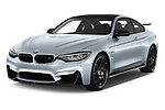 2018 BMW M4 Base 2 Door Coupe angular front stock photos of front three quarter view