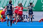Krefeld, Germany, May 18: During the Final4 semi-final fieldhockey match between Mannheimer HC and Duesseldorfer HC on May 18, 2019 at Gerd-Wellen Hockeyanlage in Krefeld, Germany. (worldsportpics Copyright Dirk Markgraf) *** Cecile Pieper #3 of Mannheimer HC
