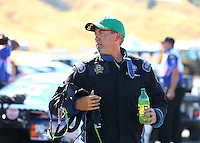 Jul 30, 2016; Sonoma, CA, USA; NHRA pro stock driver Bo Butner during qualifying for the Sonoma Nationals at Sonoma Raceway. Mandatory Credit: Mark J. Rebilas-USA TODAY Sports