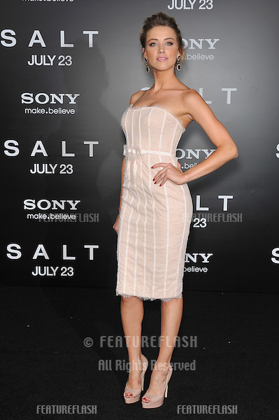 "Amber Heard at the premiere of ""Salt"" at Grauman's Chinese Theatre, Hollywood..July 19, 2010  Los Angeles, CA.Picture: Paul Smith / Featureflash"