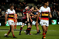 Action during the Mitre 10 Cup Premiership and Ranfurly Shield rugby match between Canterbury and Waikato at AMI Stadium in Christchurch, New Zealand on Saturday, 30 September 2017. Photo: Martin Hunter / lintottphoto.co.nz