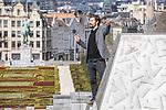 BRUSSELS - BELGIUM - 31 March 2020 --  Stand-up Comedian Jukka Lindström (Lindstrom). — PHOTO: Juha ROININEN / EUP-IMAGES