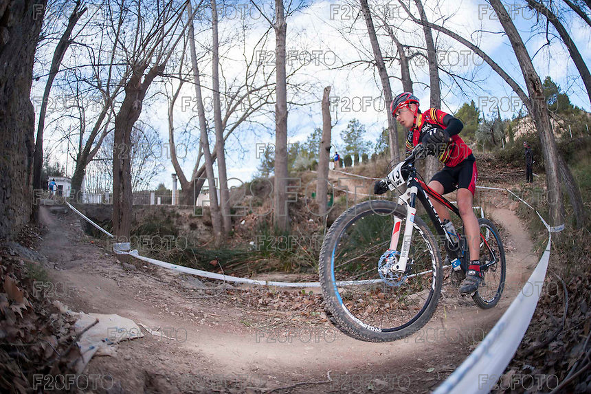 Chelva, SPAIN - MARCH 6: Aaron Cordero during Spanish Open BTT XCO on March 6, 2016 in Chelva, Spain