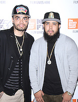 "NEW YORK, NY-September 30:Luis Lebron, Victor Morales at 54th New York Film Festival - Opening Night Gala Presentation And ""13th"" World Premiere at Alice Tully Hall at Lincoln Center in New York. September 30, 2016. Credit:RW/MediaPunch"