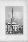 St Barnabas church, King Square, engraving 'Metropolitan Improvements, or London in the Nineteenth Century' London, England, UK 1828