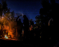 Limpia de curanderos indigenas al sub comandante. Marcos de EZLN y la otra campaña en su paso por el rancho el Peñasco en Magdalena de Kino. 2008 -2009