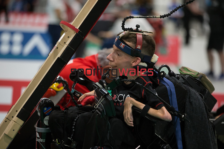 Eric Bussiere (CAN)<br /> BISFed 2018 World Boccia Championships <br /> Exhibition Centre Liverpool<br /> 12.08.18<br /> &copy;Steve Pope<br /> Sportingwales