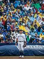 Baseball action during the Los Angeles Dodgers game against San Diego Padres, the second game of the Major League Baseball Series in Mexico, held at the Sultans Stadium in Monterrey, Mexico on Saturday, May 5, 2018 .<br /> (Photo: Luis Gutierrez)<br /> <br /> Acciones del partido de beisbol, durante el encuentro Dodgers de Los Angeles contra Padres de San Diego, segundo juego de la Serie en Mexico de las Ligas Mayores del Beisbol, realizado en el estadio de los Sultanes de Monterrey, Mexico el sabado 5 de Mayo 2018.<br /> (Photo: Luis Gutierrez)