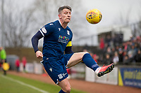 7th March 2020; Somerset Park, Ayr, South Ayrshire, Scotland; Scottish Championship Football, Ayr United versus Dundee FC; Josh Meekings of Dundee controls a high pass