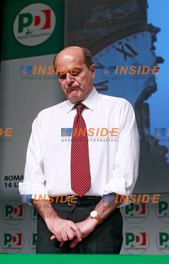 Pierluigi Bersani.Roma 14/07/2012 Assemblea Nazionale del Partito Democratico (PD).National Assembly of the Democratic Party.Photo Samantha Zucchi Insidefoto