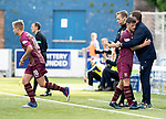 Queen of the South v St Johnstone&hellip;18.08.18&hellip;  Palmerston    BetFred Cup<br />Matty Kennedy gets a well done hug from manager Tommy Wright ash e his replaced by Ali McCann<br />Picture by Graeme Hart. <br />Copyright Perthshire Picture Agency<br />Tel: 01738 623350  Mobile: 07990 594431