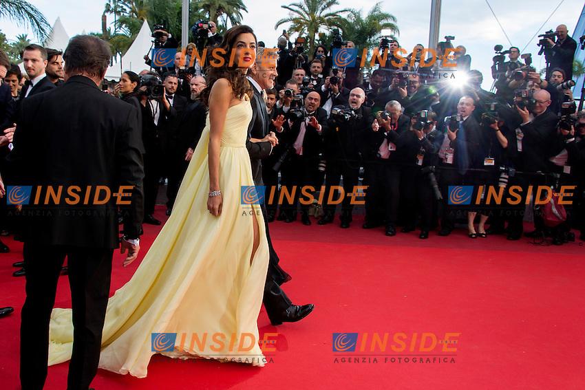 GEORGE CLOONEY - Amal Alamuddin (FEMME DE GEORGE CLOONEY)<br /> Festival di Cannes 2016 <br /> Foto Panoramic / Insidefoto