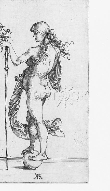Fortuna, Albrecht Dürer, 1493 - 1498
