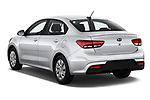 Car pictures of rear three quarter view of a 2019 KIA Rio S 4 Door Sedan angular rear