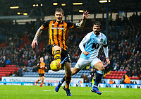Hull City's Ondrej Mazuch shields the ball from Blackburn Rovers' Bradley Dack<br /> <br /> Photographer Alex Dodd/CameraSport<br /> <br /> The EFL Sky Bet Championship - Blackburn Rovers v Hull City - Saturday 26th January 2019 - Ewood Park - Blackburn<br /> <br /> World Copyright © 2019 CameraSport. All rights reserved. 43 Linden Ave. Countesthorpe. Leicester. England. LE8 5PG - Tel: +44 (0) 116 277 4147 - admin@camerasport.com - www.camerasport.com