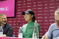 Defending Champion In Gee Chun (KOR), Chairman Franck Riboud and Vice Chairman Jacques Bungert opening press conference during Wednesday's Pro-Am Day of The Evian Championship 2017, the final Major of the ladies season, held at Evian Resort Golf Club, Evian-les-Bains, France. 13th September 2017.<br /> Picture: Eoin Clarke | Golffile<br /> <br /> <br /> All photos usage must carry mandatory copyright credit (&copy; Golffile | Eoin Clarke)