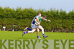 Niall Sheehy of Tralee CBS wrestles with Shane O'Donnell of St Flannan's in the Frewen Cup Final held last Wednesday in Croagh, Co. Limerick. ..