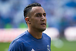Real Madrid's Keylor Navas during the match of La Liga between Real Madrid and SD Eibar at Santiago Bernabeu Stadium in Madrid. October 02, 2016. (ALTERPHOTOS/Rodrigo Jimenez)