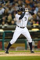 Detroit Tigers center fielder Curtis Granderson (28) at bat versus the Los Angeles Angels at Comerica Park in Detroit, MI, Sunday, April 27, 2008.
