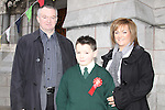 Scoile Aonghusa Confirmation in St Peters Church..Jack Carr with his mother Yvonne and Sponsor Oliver Henry..Photo: Fran Caffrey/www.newsfile.ie...