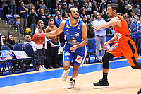 Philip Scrubb (Fraport Skyliners) greift an - 18.11.2017: Fraport Skyliners vs. ratiopharm Ulm, Fraport Arena Frankfurt