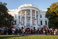 The White House in Washington, DC is decorated for a Halloween event  October 30, 2017. Photo Credit: Chris Kleponis/CNP/AdMedia