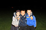 Donald, John and Dean at Ballsgrove bonfire..Picture: Shane Maguire / www.newsfile.ie.