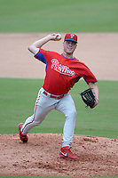Philadelphia Phillies pitcher Tanner Kiest (63) during an Instructional League game against the New York Yankees on September 23, 2014 at the Bright House Field in Clearwater, Florida.  (Mike Janes/Four Seam Images)