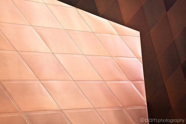 Colorful creative abstract of of Jewish Contemporary Museum in San Francisco
