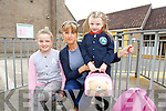 Rebecca, Linda and Katie O'Brien, pictured Listellick primary school on Wednesday morning.