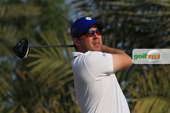 Richie Ramsey (SCO) on the 2nd tee during Round 4 of the Abu Dhabi HSBC Championship on Sunday 22nd January 2017.<br /> Picture:  Thos Caffrey / Golffile<br /> <br /> All photo usage must carry mandatory copyright credit     (&copy; Golffile | Thos Caffrey)