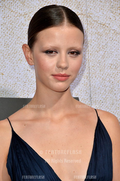 LOS ANGELES, CA. October 24, 2018: Mia Goth at the Los Angeles premiere for &quot;Suspiria&quot; at the Cinerama Dome.<br /> Picture: Paul Smith/Featureflash