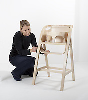 Royal College of Art alumna Katie Walker (MA Furniture Design, 1993) crafted a highchair for the new royal baby, Prince George. The chair was given as a gift by The Worshipful Company of Furniture Makers to the Duke and Duchess of Cambridge.