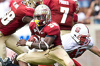 October 31, 2009:    Jermaine Thomas (38) during Atlantic Coast Conference action between the North Carolina State Wolfpack and Florida State Seminoles at Doak Campbell Stadium in Tallahassee, Florida.  Florida State defeated N. C. State 45-42.