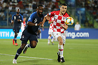 Moussa Dembele of France iand Filip Uremovic of Croatia compete for the ball<br /> Serravalle 21-06-2019 Stadio San Marino Stadium <br /> Football UEFA Under 21 Championship Italy 2019<br /> Group Stage - Final Tournament Group C<br /> France - Croatia<br /> Photo Cesare Purini / Insidefoto