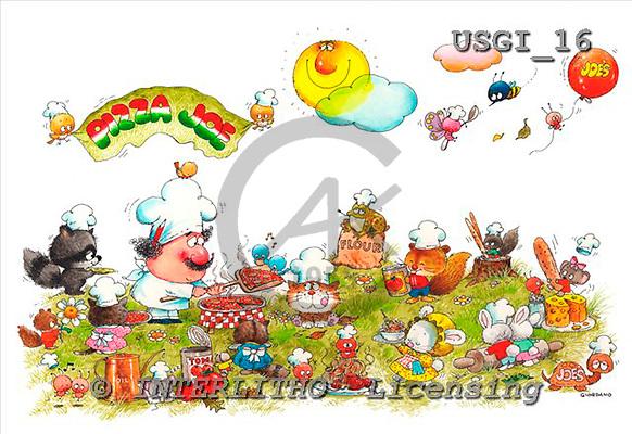 GIORDANO, CHILDREN BOOKS, BIRTHDAY, GEBURTSTAG, CUMPLEAÑOS, humor, paintings+++++,USGI16,#BI#,#H# ,everyday ,everyday
