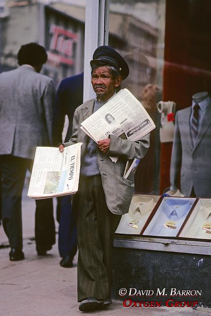 Man Selling El Tiempo Newspapers